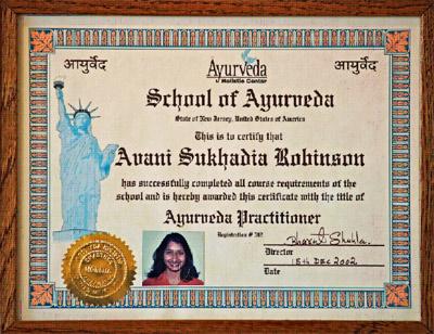 Avani Sukhadia – Certified Ayurvedic Practitioner